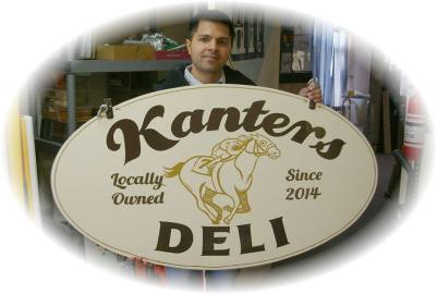 Kanters Deli on Lark Street's hand painted sign